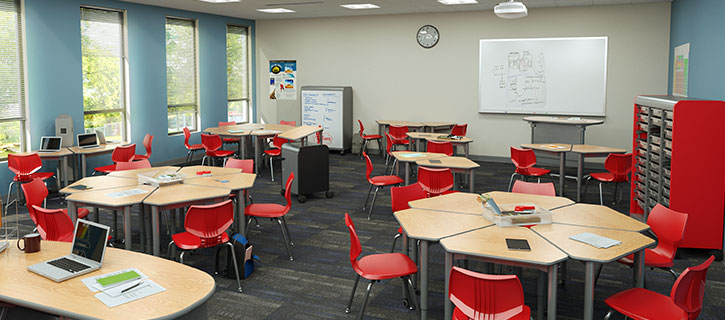 Modern Classroom Desks ~ Why douron s design solutions work for education centers